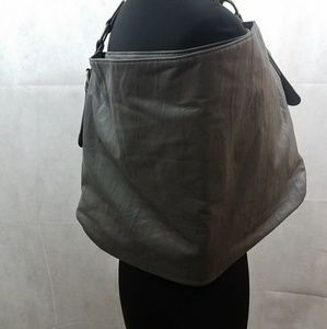 Express Grey Faux Leather Tote bag/ Large bag